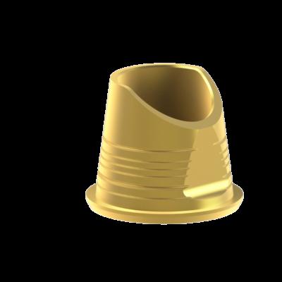 Szögkorrekciós titán bázis elfordulásgátló nélkül - alacsony szulkusz