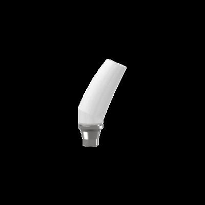 CoCr alapra önthető szögtört felépítmény 25ˇ-os elfordulásgátlós TPA csavarral