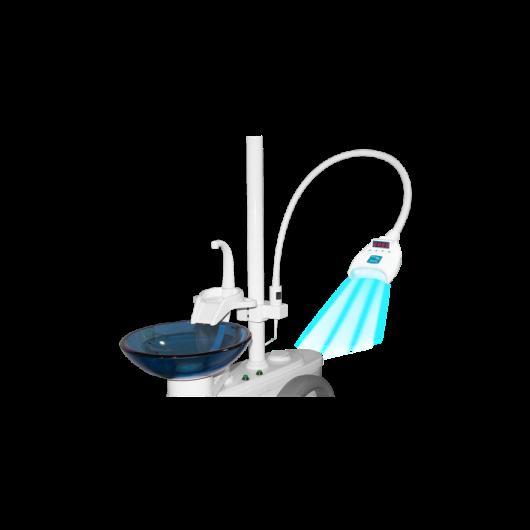 Kékledes lámpa rendelői fogfehérítéshez